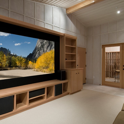 built in home theater screen